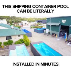 This video is a premade pool that can be installed in minutes. pool ideas Shipping Container that can be Installed in Minutes Shipping Container Swimming Pool, Small Swimming Pools, Small Backyard Pools, Backyard Pool Designs, Diy Pool, Small Pools, Swimming Pools Backyard, Swimming Pool Designs, Pool Landscaping