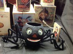 Bethany Lowe Halloween  Spider Bucket