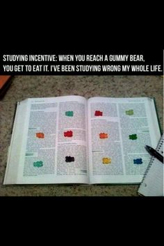 Genius! hmm.. need some gummy bears... finals are coming!
