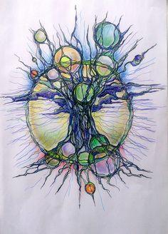 Zen Doodle, Doodle Art, Abstract Watercolor, Watercolor Paintings, Circle Art, Symbol Design, Alcohol Ink Art, Zentangle Patterns, Beautiful Drawings