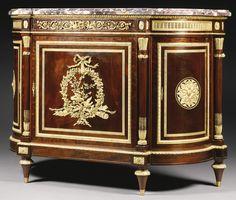 A LOUIS XVI STYLE GILT BRONZE MOUNTED MAHOGANY MEUBLE À HAUTEUR D'APPUI, PARIS, LAST QUARTER 19TH CENTURY, HENRI DASSON 1825 - 1896 | Sotheby's