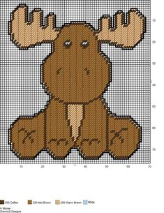A MOOSE by GrannyS Designs -- WALL HANGING, using Perler beads                                                                                                                                                                                 More