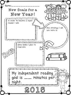 Want a way to get your students to set attainable goals for 2015, be thoughtful about what they need to continue to do as readers, and track their progress towards those goals? This product is a cute and quick worksheet to do just that! Enjoy and please leave feedback!