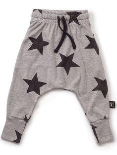 78c4718e8a2 NUNUNU Unisex Heather Grey French Terry Star Baggy Pants NU0615 Sz 4Y  60  NWT (eBay Link)