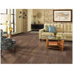 "Mohawk Flooring Barfield 5"" x 47"" x 8mm Chestnut Laminate in…"