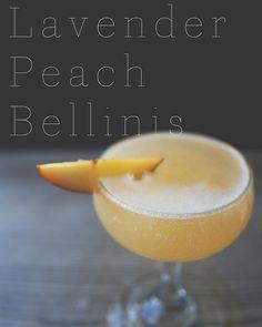 Lavender-peach Bellini, herbal drinks