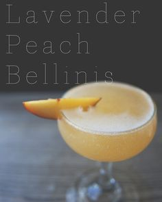 LAVENDER PEACH BELLINIS // The Kitchy Kitchen
