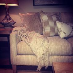 We have cozy, neutral layers on our minds this week! #LuxeThrows #LHBDesign