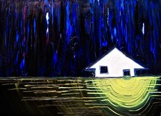 """Painting explanation for """"Flooded""""- original oil painting by Annie Swarm Guldberg. Annie, Artist, Painting, Artists, Painting Art, Paintings, Painted Canvas, Drawings"""