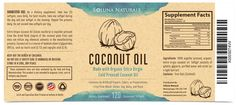 Create a Premium Label for a Coconut Oil Softgel Supplement by Designotion