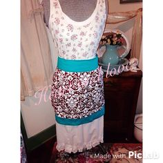 A personal favorite from my Etsy shop https://www.etsy.com/listing/227342012/womens-chocolate-and-turquoise-floral