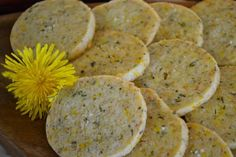 Sweet & Savoury Dandelion Rosemary Shortbread                    ..............I didn't know what emmental cheese was so I looked it up. It is also known as swiss cheese.