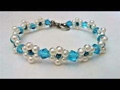 How to make a beaded flower bracelet. Beginners project - YouTube