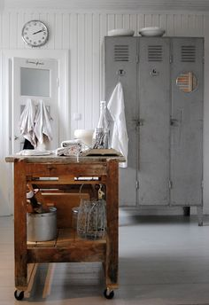 I never thought of lockers in the home! What a cute, easy idea.