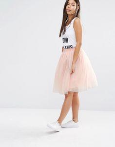 Imagen 1 de Falda en tejido de tul de Boohoo