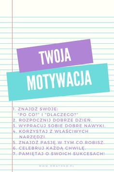 Motivational Slogans, Polish Language, School Study Tips, Positive Mind, School Organization, Study Motivation, Self Development, Classroom Management, Better Life