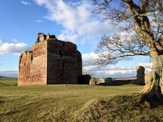 Cessford Castle, once one of the strongest castles in the Scottish Borders