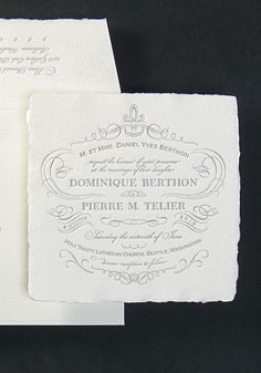 A 19th century print shop designing wedding invitations for the 21st century with handmade papers and exceptional letterpress design.