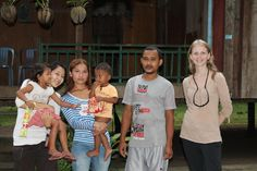 My #Cambodia homestay experience. Me with my host family in Chi Phat. #travel http://www.tammyandchrisonthemove.com