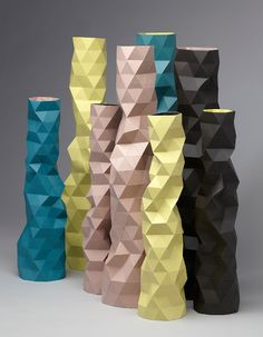 Fracture handmade resin vases by Phil Cuttance www.providehome.com