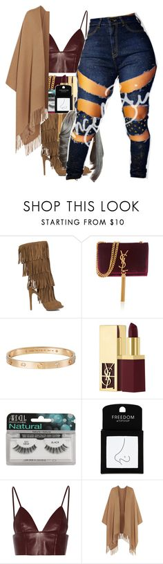 """Dance like we're making love"" by thaofficialtrillqueen ❤ liked on Polyvore featuring Yves Saint Laurent, Cartier, Ardell, Topshop, T By Alexander Wang, Acne Studios and Brinks"