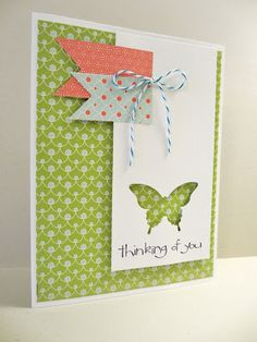Sincerely, Babette: Thinking of You Butterfly Card