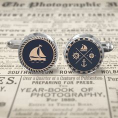 Cuff Links  Accessories  Cufflinks  Nautical by MaDGreenCreations