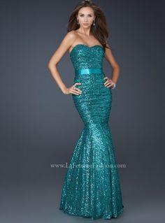 Teal Prom Dress, Mermaid prom dress, trumpet skirt prom dress