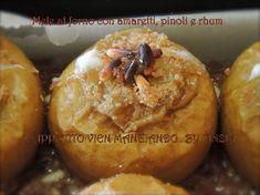 Mele al forno con amaretti, pinoli e rhum