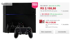 Console PlayStation 4 500GB  2 Controles Dualshock 4 << R$ 189990 >>
