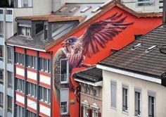 WES21 s'envole à Bienne, Suisse, avril 2013 - www.street-art-avenue.com
