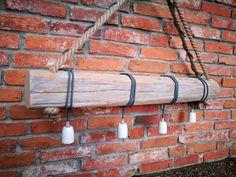 BIELONA LAMPA DREWNIANA - BELKADESKA - Lampy sufitowe