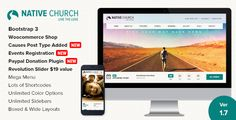 NativeChurch is a powerful Wordpress Theme designed & developed for Church, Charity, Non-Profit and Religious Websites and comes handy for Portfolio/Corporate Websites as well. It is fully responsi...