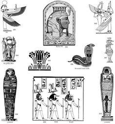 трафарет египет