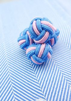 Pink And Blue Knot Cufflinks