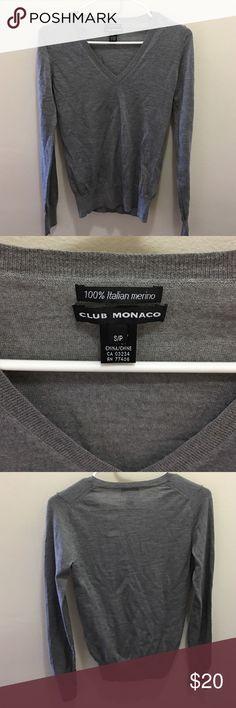 f99ea2f72c4 Club Monaco grey merino wool sweater 100% Merino wool sweater. Club Monaco  Sweaters V