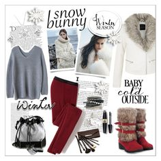 """""""Winter FUN in a Snow Bunny Style"""" by fashiontake-out ❤ liked on Polyvore featuring Icebreaker, Balmain, Carianne Moore, Georgini, H&M, Borghese, Max Factor, women's clothing, women and female"""
