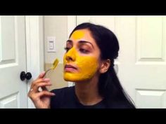 DIY Turmeric Face Mask for rosacea, acne, and dark circles - Recipe for the turmeric mask: 1. Turmeric 2. Honey 3. Milk