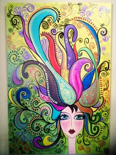 mmm Happy Paintings, Indigenous Art, Art Plastique, Face Art, Doodle, Painting Inspiration, Altered Art, Diy Art, Collage Art