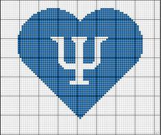 Símbolo Psicologia Ponto Cruz em Coração Pixel Art, Psychology, Cross Stitch, Embroidery Ideas, Logos, Graduation, Handmade, Diy, Tattoo