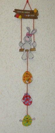 Guirlande Lapin de Pâques et ses oeufs