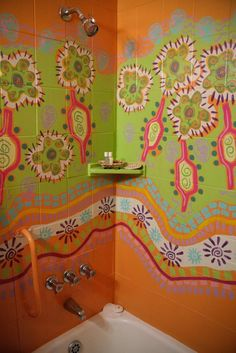 painted shower