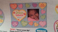 valentine jesus loves me picture frame spring