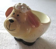 Novelty sheep egg cup.