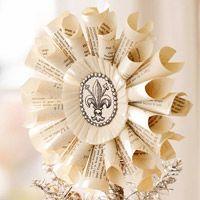 Fleur-De-Lis Medallion Christmas Ornament