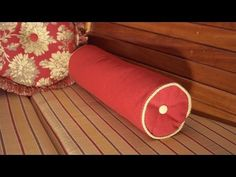▶ How to Make a Neckroll Pillow with Piping - YouTube - very clear & simple instruction.