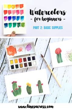 Drawing For Beginners Watercolors for Beginners - Supplies - Get inspired by these 20 Beautiful Watercolor Projects! Watercolor Projects, Watercolor Tips, Watercolour Tutorials, Watercolor Techniques, Watercolour Painting, Watercolors, Watercolor Tutorial Beginner, Painting & Drawing, Painting Tips