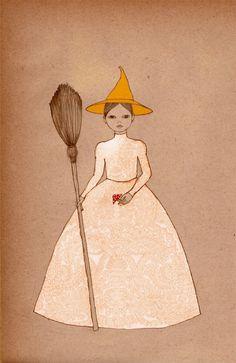Halloween Art Witch Girl $20