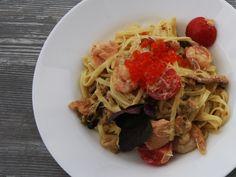 Фетучини с морепродуктами #привозимпродукты #recipes