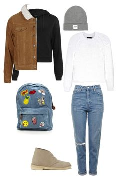 """Untitled #126"" by yasminabuwi on Polyvore featuring Clarks Originals, Topshop, Calvin Klein Collection and Opening Ceremony"